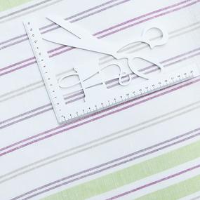 Ткань на отрез полулен полотенечный 50 см 3/27/20 Полоса светлая ива 703096 фото