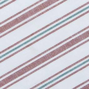 Ткань на отрез полулен полотенечный 50 см 3/99/83 Полоса лосось петунья 703096 фото