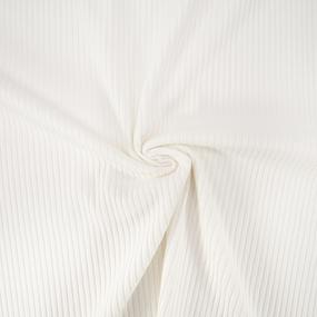 Ткань на отрез трикотаж лапша цвет молочный фото