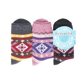 Женские носки с махрой Комфорт плюс 473-YM10-3 размер 41-47 фото