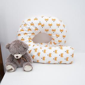 Наволочка поплин на подушку для беременных U-образная 1824/1 Лисы рыжие фото
