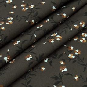 Ткань на отрез ниагара 150 см D010 Цветы на коричневом фото