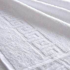 Полотенце махровое 450 гр/м2 Туркменистан 50/70 см белое фото