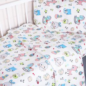 Постельное белье в детскую кроватку из поплина 1822/1 фото