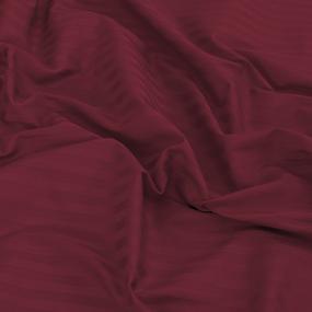 Простынь на резинке страйп-сатин 066 цвет бордовый 140*200*20 см фото