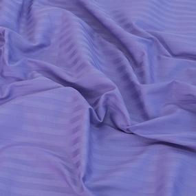 Простынь на резинке страйп-сатин 618 цвет сиреневый 140*200*20 см фото