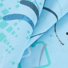 Бязь о/м 100 гр/м2 150 см 319/3 Вальс цвет голубой фото
