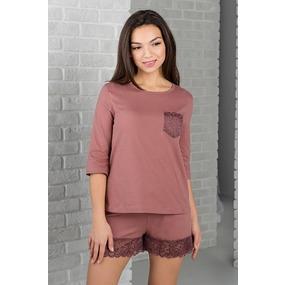 Комплект футболка+шорты 0342-61 цвет Капучино р 44 фото