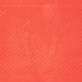 Полотенце махровое ножки 700 гр/м2 Туркменистан 50/70 см цвет коралловый фото