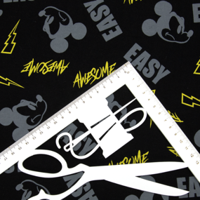 Ткань на отрез кулирка R2378-V1 Микки Маус фото