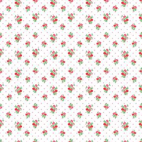 Ткань на отрез ситец 95 см 18981/2 Цветы на белом фото