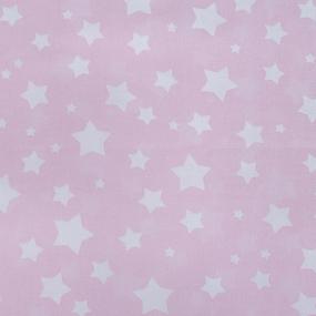 Мерный лоскут перкаль 150 см 13165/1 Звезда цвет розовый 9,6 м фото