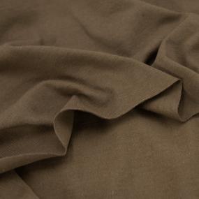 Ткань на отрез кулирка М-2114 цвет коричневый фото