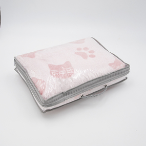 Покрывало велсофт стриженный Розовые кошки 150/200 фото