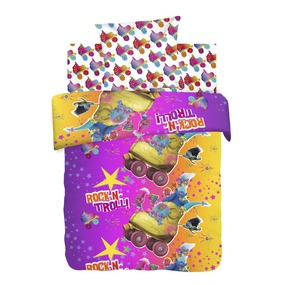 Детское постельное белье из хлопка 1.5 сп Trolls (70*70) рис. 8890+8891 вид 1 Тролли фото