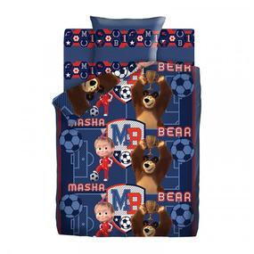 КПБ 1.5 хлопок Маша и Медведь (70х70) рис. 9007-1/9008-1 Команда фото