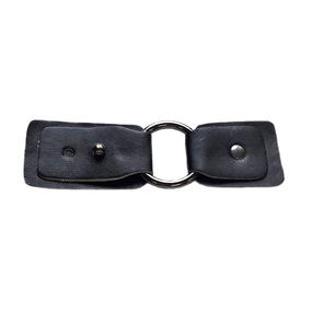 Застежка с кольцом черный никель, черный 10,5*3,5 см фото