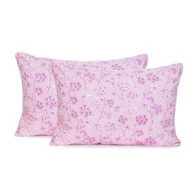 Подушка Лебяжий пух Цветы цвет розовый 50/70 фото