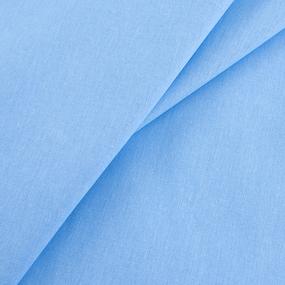 Мерный лоскут бязь гладкокрашеная ГОСТ 150 см цвет голубой фото