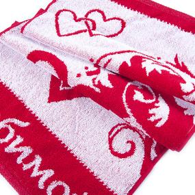 Полотенце махровое 2261 Любимой 30/60 см цвет красный фото
