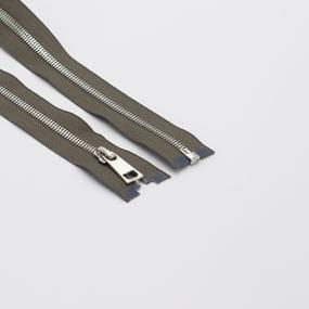 Молния металл №5СТ никель разьем 80см D034 серый фото