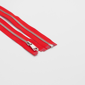 Молния металл №5СТ никель разьем 65см D820 красный фото