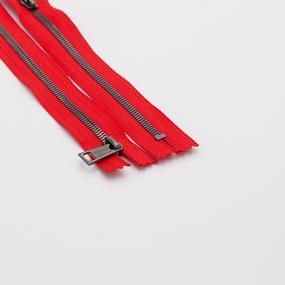 Молния металл №5СТ черный никель н/р 30см D820 красный фото