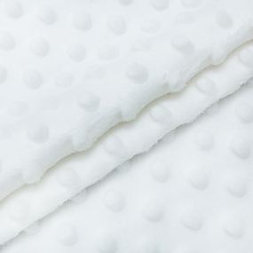 Мерный лоскут Плюш Минки Китай 180 см/55 см цвет белый фото