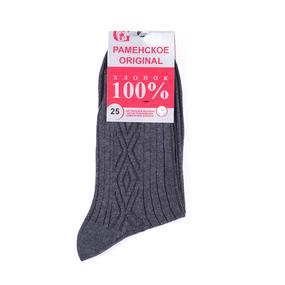 Мужские носки Р-200 Раменские цвет темно-серый размер 25 фото