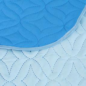 Покрывало ультрастеп двухстороннее цвет голубой-василек 150/210 фото