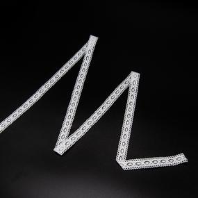 Кружево лен 2194 белый 1,6см 1 метр фото