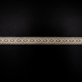 Кружево лен 2194 бежевый 1,6см 1 метр фото