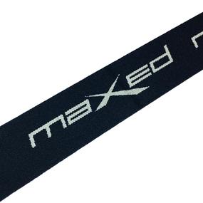 Резинка декоративная №18 черный серый надпись maxed 4см уп 10 м фото