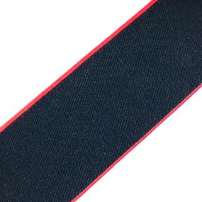 Резинка декоративная №16 черный кант красный 4см уп 10 м фото