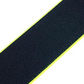 Резинка декоративная №15 черный кант неон 4см уп 10 м фото