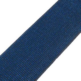 Резинка декоративная №13 черный с синим люрексом 4см уп 10 м фото