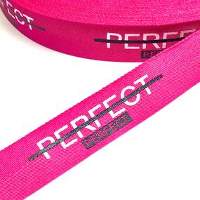 Тесьма розовая PERFECT 2,5см 1 метр уп 10 м фото