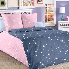 Бязь 120 гр/м2 детская 150 см Звездное небо серый 204561 основа фото