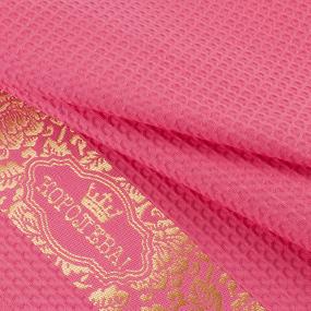 Полотенце вафельное Королева цвет коралл 50/70 см фото