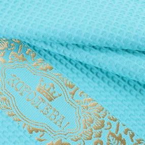 Полотенце вафельное Королева цвет мятный 50/70 см фото