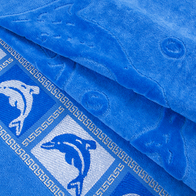 Полотенце махровое Дельфины 50/90 см цвет голубой фото