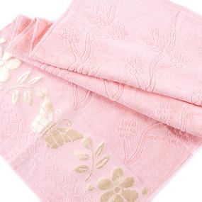 Полотенце велюровое Европа 70/130 см цвет персик фото