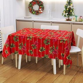 Ткань на отрез рогожка 150 см 204531Р Рождественский букет фото