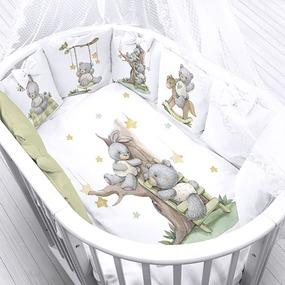Ткань на отрез перкаль детский 150/37.5 см 23 На прогулке (4 квадрата) фото