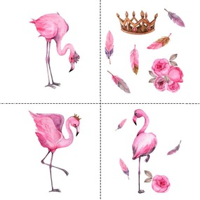 Ткань на отрез перкаль детский 150/37.5 см 06 Фламинго (4 квадрата) фото