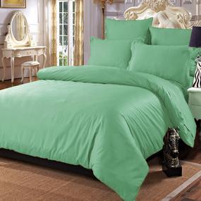Постельное белье сатин 15-6316 Зелень 2-х сп с евро простыней фото