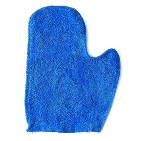 Махровая рукавичка для бани и сауны цвет василёк фото