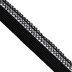 Резинка TBY бельевая ультрамягкая 12 мм RB06 цвет F322 черный 1 метр фото