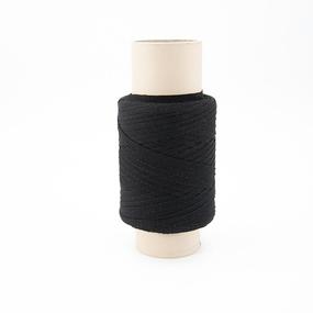 Тесьма киперная 8 мм хлопок 1,9г/см арт.ЛКЭ-8ЧХ-100 цв.черный фото