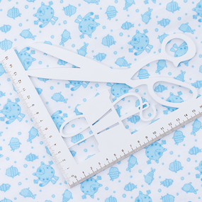 Маломеры ситец 95 см 98031 Коты цвет голубой 1.5 м фото